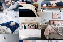 Navy & pink decor