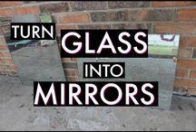turn glass into mirror