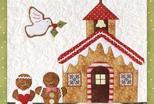 Quilt gingerbread village