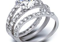 Inexpensive Wedding and Engagement Rings / The big, flashy wedding rings and bands all over Pinterest are awesome to dream over. But for many, that's where it stops because neither them or their fiancees can afford a big honkin' piece of diamond bling. And they don't want to go into debt over a ring. (Babies and down payments are a better use for that $ !) If they are you, these rings are for you. They mostly include cubic zirconium (CZ) or other man-made gems. And the bands are silver or other low-priced metal.