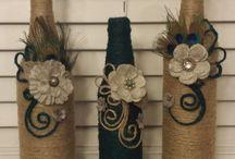 Sticle și borcane decorate