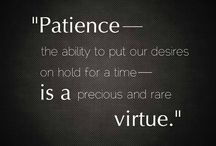 """Patience - One Little Word 2014 / My """"One Little Word"""" for 2014. / by Katie Mitchell"""