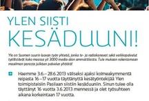 Ylen siisti kesäduuni 2013 / Kesäduuni Ylessä? Siistiä!  30 kesäduunaria (ikä 16-17) tutustuvat kesäkuun 2013 ajan duuniin Ylessä.   Löydät Ylen siistin kesäduunin myös Facebookista:  www.facebook.com/YlenSiistiKesaduuni2013