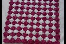 háčkované a pletené deky