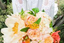Orange & Lemon / Orange and lemon coloured flowers for weddings.