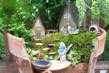 Fairy garden ideas / Fairy Garden and decor ideas.
