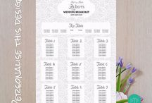 Wedding Table Seating Plans