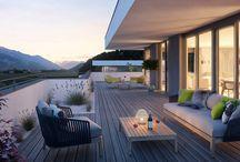 Penthouse CARISMA / Wohnen über den Dächern mit Terrassen und Ausblick in Tirol.