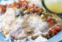 Healthy FISH & SEAFOOD Recipes / Healthy fish and seafood ideas for lunch and dinner. Try recipes for salmon, trout, cod, mahi mahi, tuna, sable fish, scallops, shrimp, prawns, oysters, clams, crawfish, crabs, and more.