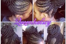 Braided and cornrow styles / Black beauty