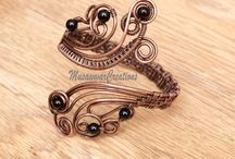 Antique copper bracelet cuff