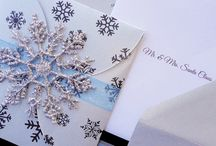 winter wedding blue and silver