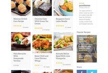 Work: Blog / Food Blog Redesign