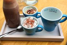 Red Bean coffee / Our amazing coffees, iced coffees and hot chocolates!