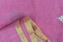 100% Khadi Jute/Organza Silk Fabrics