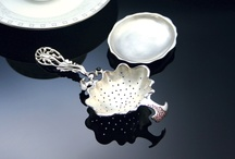 "Teaware Exhibition (TITASY) / #Tea Strainer, for #Black Tea, #Teaware, Teaware Design Exhibition(James Park, Seoul Korea 2005), Sterling Silver Tea Strainer, Design Motif: Deep Sea Organism, I entered tableware design in earnest after exhibition. And I established a tableware company now. (Handmade Tableware Studio ""TITASY"") You can see the various beautiful handmade tableware on this link.  www.etsy.com/shop/TITASY"