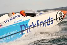 Pickfords' powerboat 2015! / Pickfords' second sponsored boat takes part in the 2015 P1 SuperStock powerboat championship, driven by David & Kirsty Toozs-Hobson.