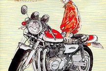Caricature moto
