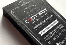 Encre blanche - White ink / Exclusif : Impression de vos cartes de visite avec une encre blanche sur du papier noir ou teinté.