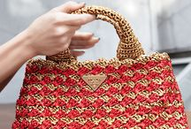 Crocheted bags, purses and clutches