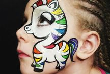 Face Paint Rainbows