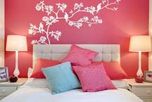 Master bedrooms with pink walls