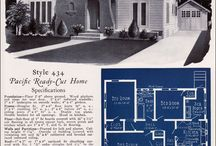Vintage Floorplans / One of my peeves with the small home movement is the general lack of style. You've noticed it right? Here is the proof that our grandparents did small better and with more finesse!  / by Stephany Simmons