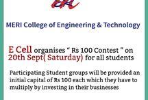 "MERI E Cell organises "" Rs 100 Contest "" on 20th Sept"
