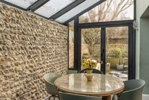 Glass extension - Brighton / A contemporary single storey glass side extension to a period property. The home is situated within a Conservation Area of Brighton, UK.
