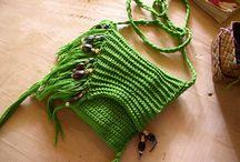 borsette / borsette realizzate a uncinetto, a macramè e di stoffa / by Caterina