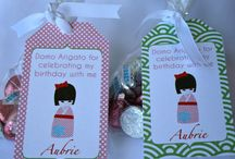 party favors and hanging tags