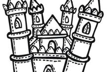 Castles coloring book / Castles coloring pages