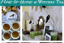 Salem Witches Murder Mystery Party Ideas / Ideas for decor, food and drinks for the murder mystery party Salem Witches (both Co-Ed and All Female) available from Shot In The Dark Mysteries.com