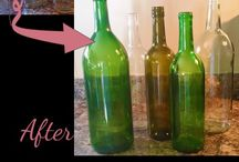 Bottle and Glass Crafts / Re-purposing old bottles or glasses into new works of art.