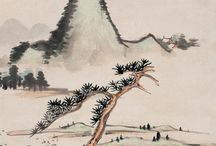 Classical Chinese painting / Classical Chinese handscroll painting