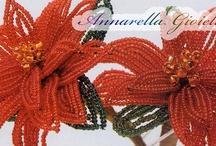 Tutorial - fiori con perline / Tutorial dove mostro come realizzare dei fiori con le perline! ^_^ / by Annarella Gioielli