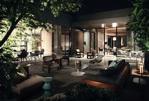 Minotti Lifescape, In-Outdoor Collection / The furniture in the Lifescape Collection is equally suited to indoor and outdoor use.