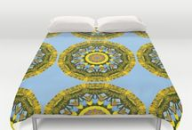 Flower mandalas for a beautiful day. / Flower Mandalas, Floral mandala-style designs by Society6. For a beautiful day.