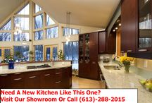 Kitchen cabinets and countertops / See the most beautiful cabinetry and granite countertops available in Ottawa.