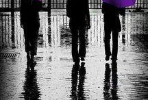 Il pleut, parapluie, umbrella, esernyő, anorak,esőkabát, raincoat, gumicsizma, rain boots ..