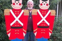 Christmas yard cutouts