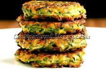 Eggless zucchini fritters