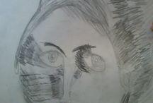 portret in schaduw