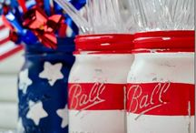Celebrating America / Celebrate our American heritage with these great red, white and blue craft and snack ideas! / by Ball® Canning