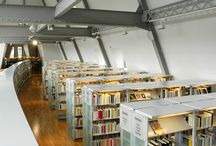 """Reference """"Borgeaud Bibliotheques """" / We have equipped the Borgeaud Bibliotheques in Chartres (France) with our highly efficient and solid life """"T5 tube"""" luminaires. They are highly photometric and aesthetic and they are suitable for cultural places including libraries, museums and galleries."""
