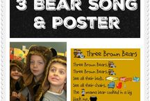 Three Bears / Three Bear thematic fun for kindergarten math, reading, social studies, art, music, writing, and science.