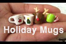tazas de Navidad fimo