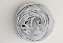 Linen fashion / Linen fashion: linen scarves, dresses, aprons