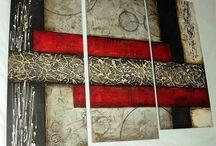 Cuadros Abstracto  con textura