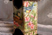 decoupage - vtáčie búdky, čajovky